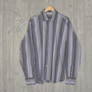 Ted Baker London Dress Shirt Stripe Purple